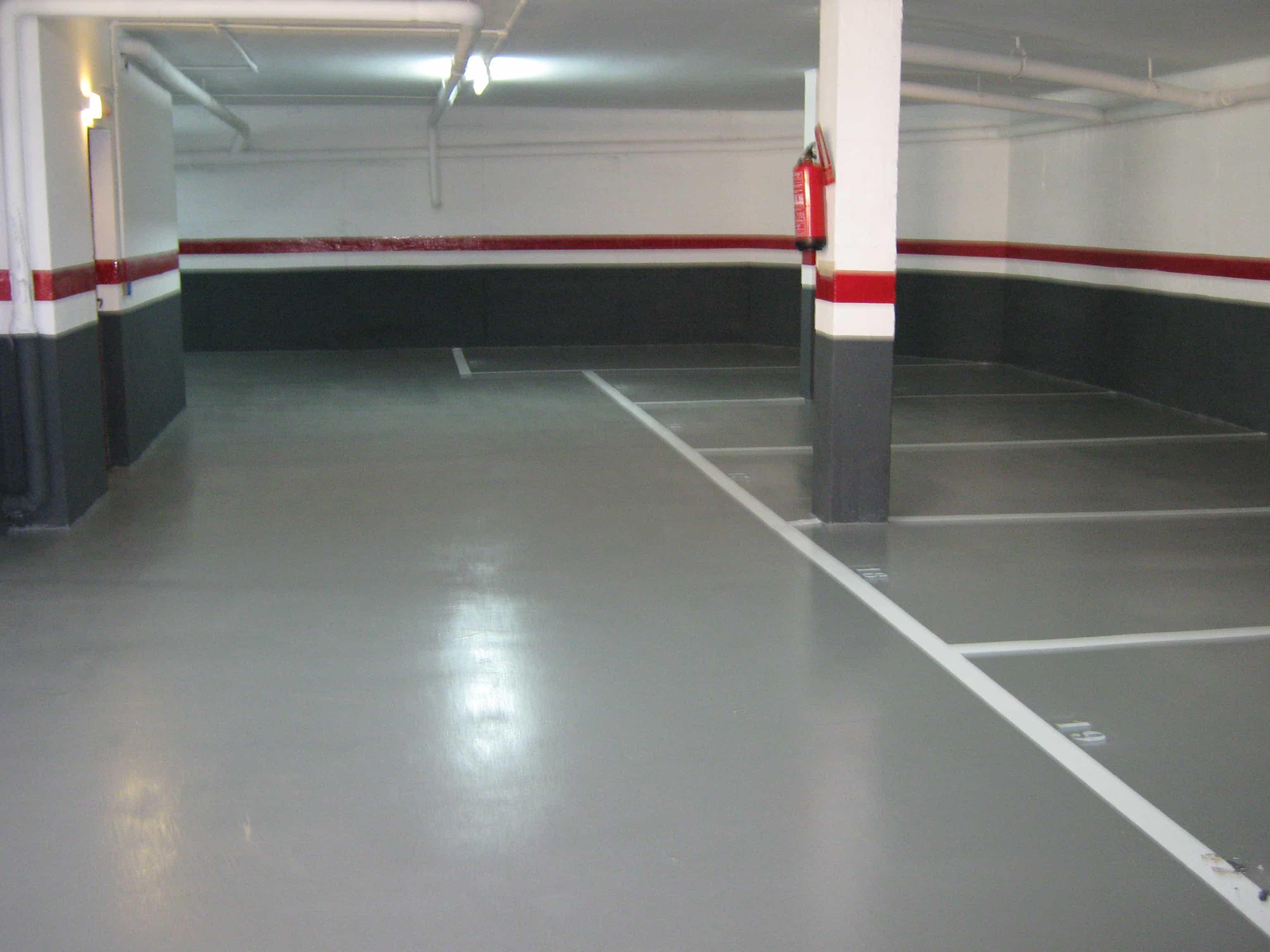 Pavimentos parking Girona